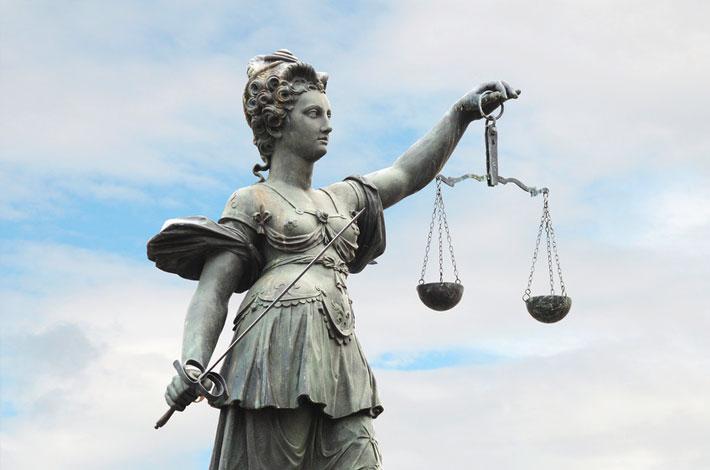 Auf dem Headerbild für Allgemeines Zivilrecht Duisburg ist Justizia zu sehen.