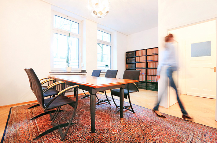 Innenaufnahme der Kanzlei der Rechtsanwälte Graue Visser Lietke aus Duisburg
